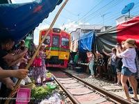 Khu chợ nguy hiểm nhất Thái Lan thu hút khách du lịch