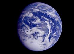 Thái Bình Dương nhìn từ ngoài không gian. Ảnh:NASA.