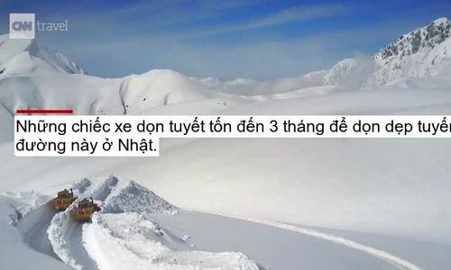 Cung đường tuyết trắng xóa cao 17m ở Nhật