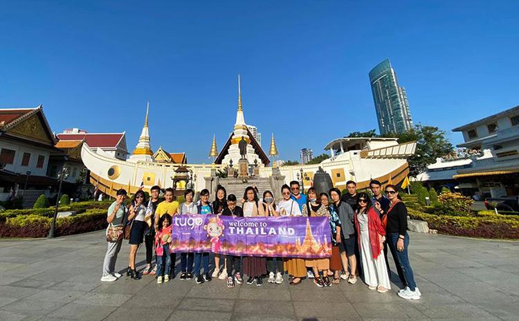 Đoàn khách Việt tham quan Thái Lan hồi tháng 1. Ảnh: Tugo.