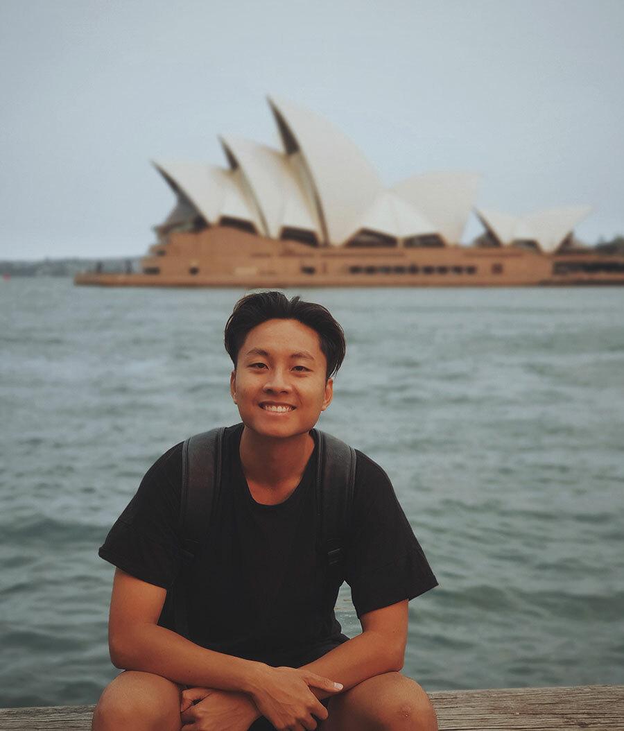 Tú trong một chuyến du lịch tới Australia. Ảnh: NVCC.