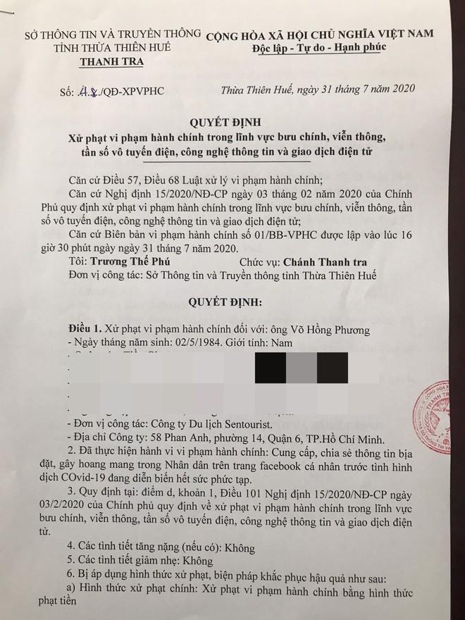 Khoe 'tẩu thoát' khỏi Đà Nẵng giữa dịch Covid-19: Phạt nhân viên Sentourist 10 triệu đồng - ảnh 1